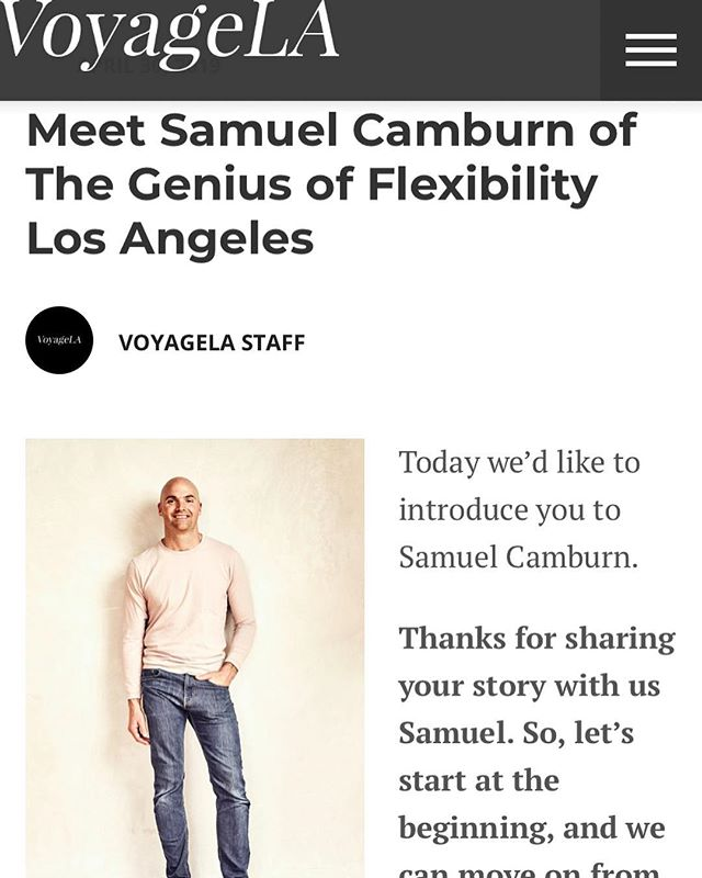 Please check out the full article about my story and Resistance Flexibility in Los Angeles.  Link in my bio.