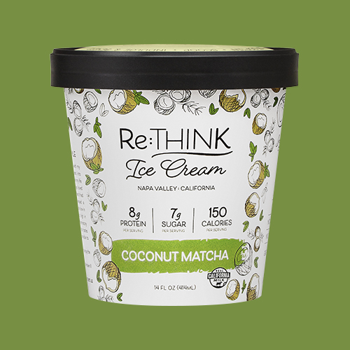 Coconut Matcha - Made with a delicate balance of matcha green tea and organic unsweetened coconut flakes, this ice cream is a daily scoop of Zen.