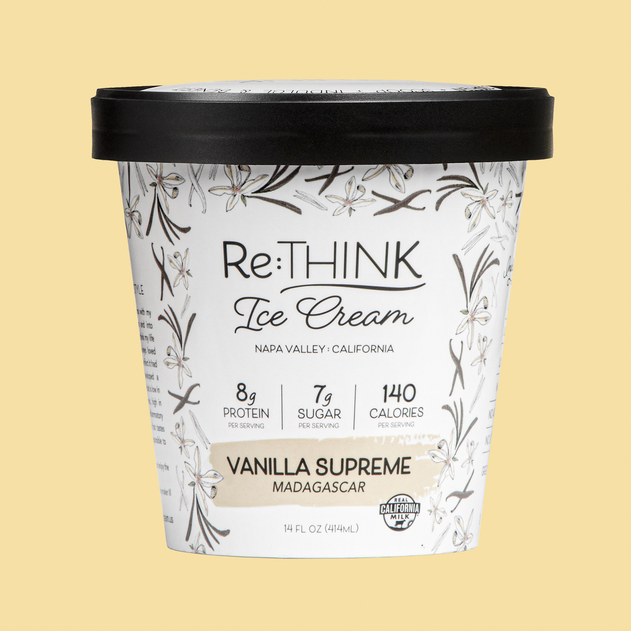 Vanilla Supreme - Made with Madagascar vanilla, the gold standard, this is vanilla ice cream at its best: clean, rich and ready for anything!