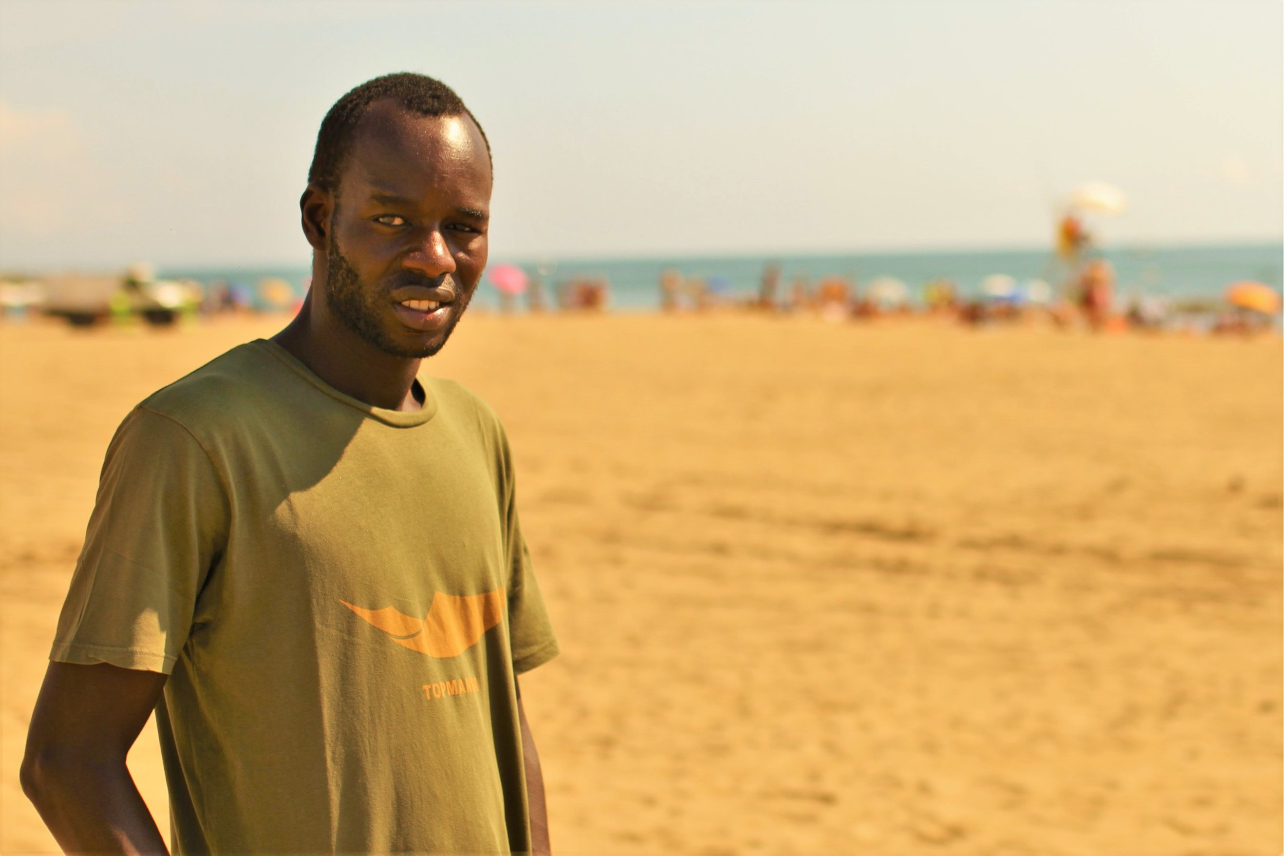 Lamine Bathily, portavoz del Sindicato Popular de Vendedores Ambulantes de Barcelona. Foto:  Juan Manuel Maidana /La Factoría.