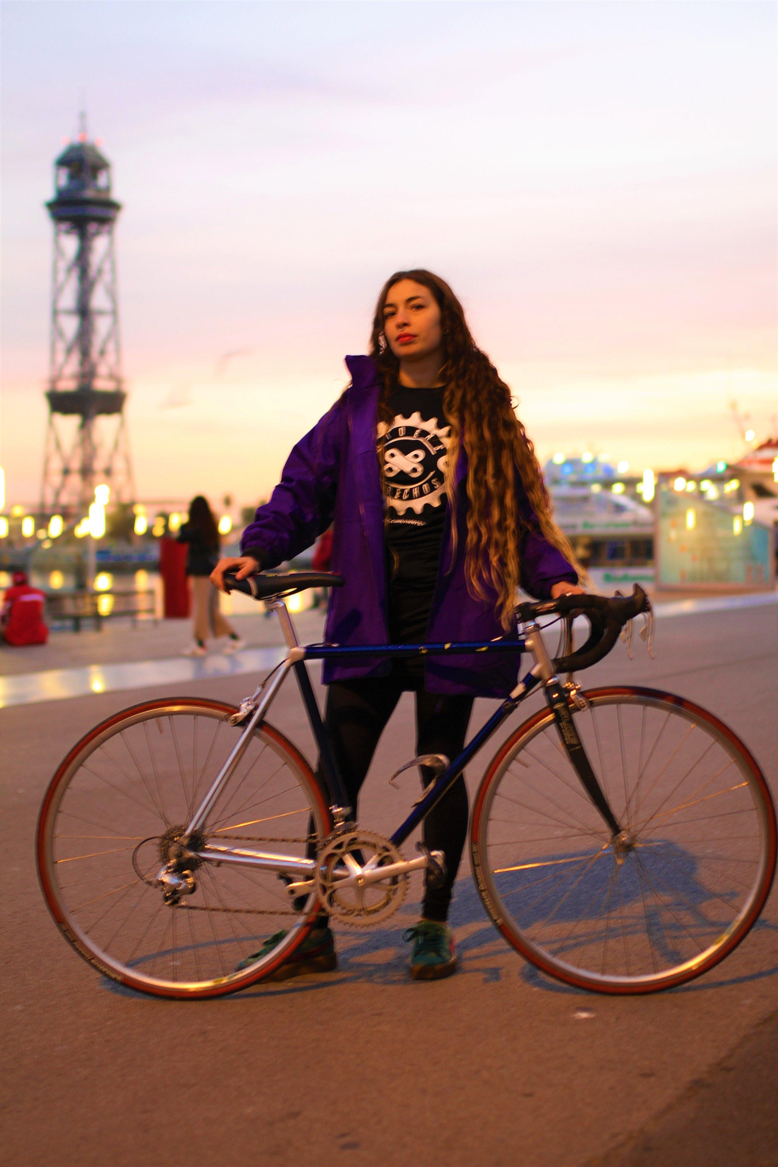 Núria Soto, portavoz del sindicato  Riders X Derechos . Foto:  Juan Manuel Maidana /La Factoría.