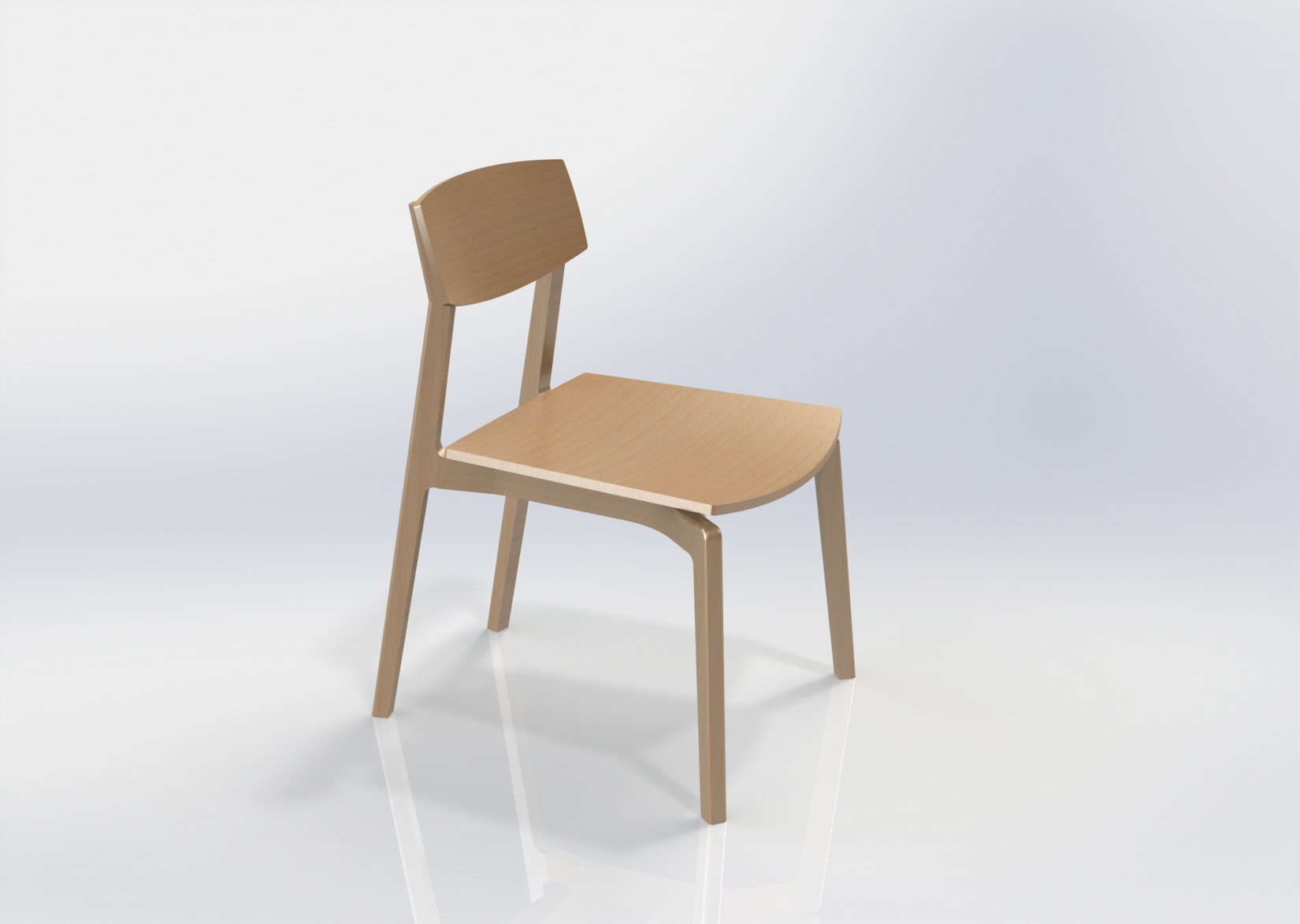 AC06 Side Chair Render SolidWorks