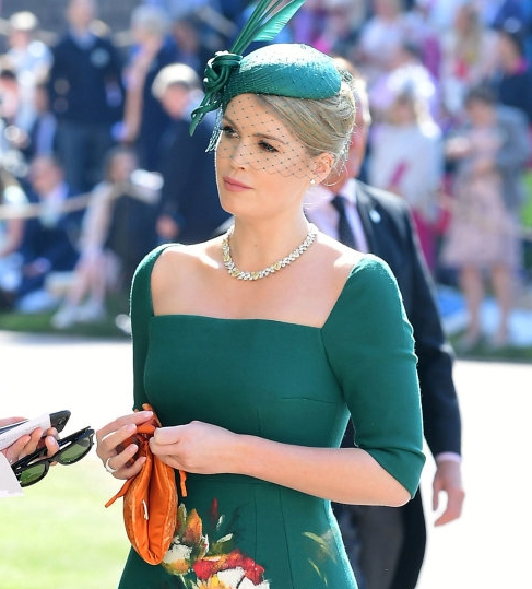 Kitty Spencer in a Philip Treacy fitted veil  Image: Reuters