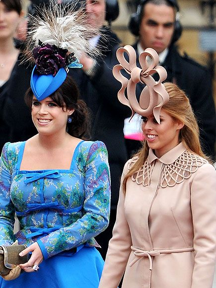 "Eugenie and Beatrice in ""those"" hats"