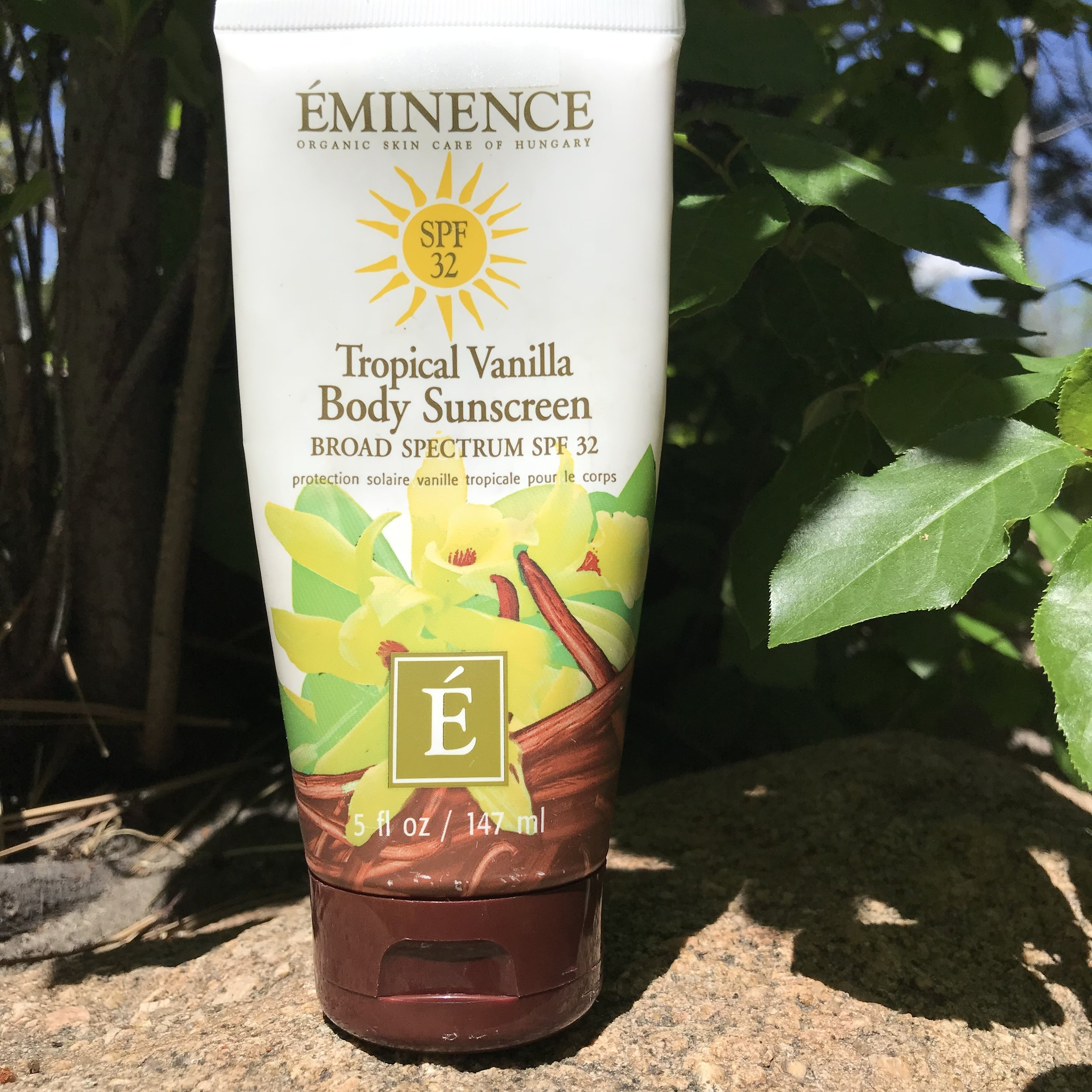 My favorite body sunscreen, available at Your Bliss Skin & Body Care