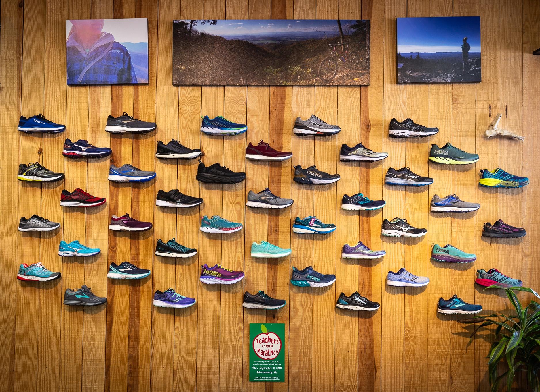 Shoes at Bluestone Running in Harrisonburg, VA