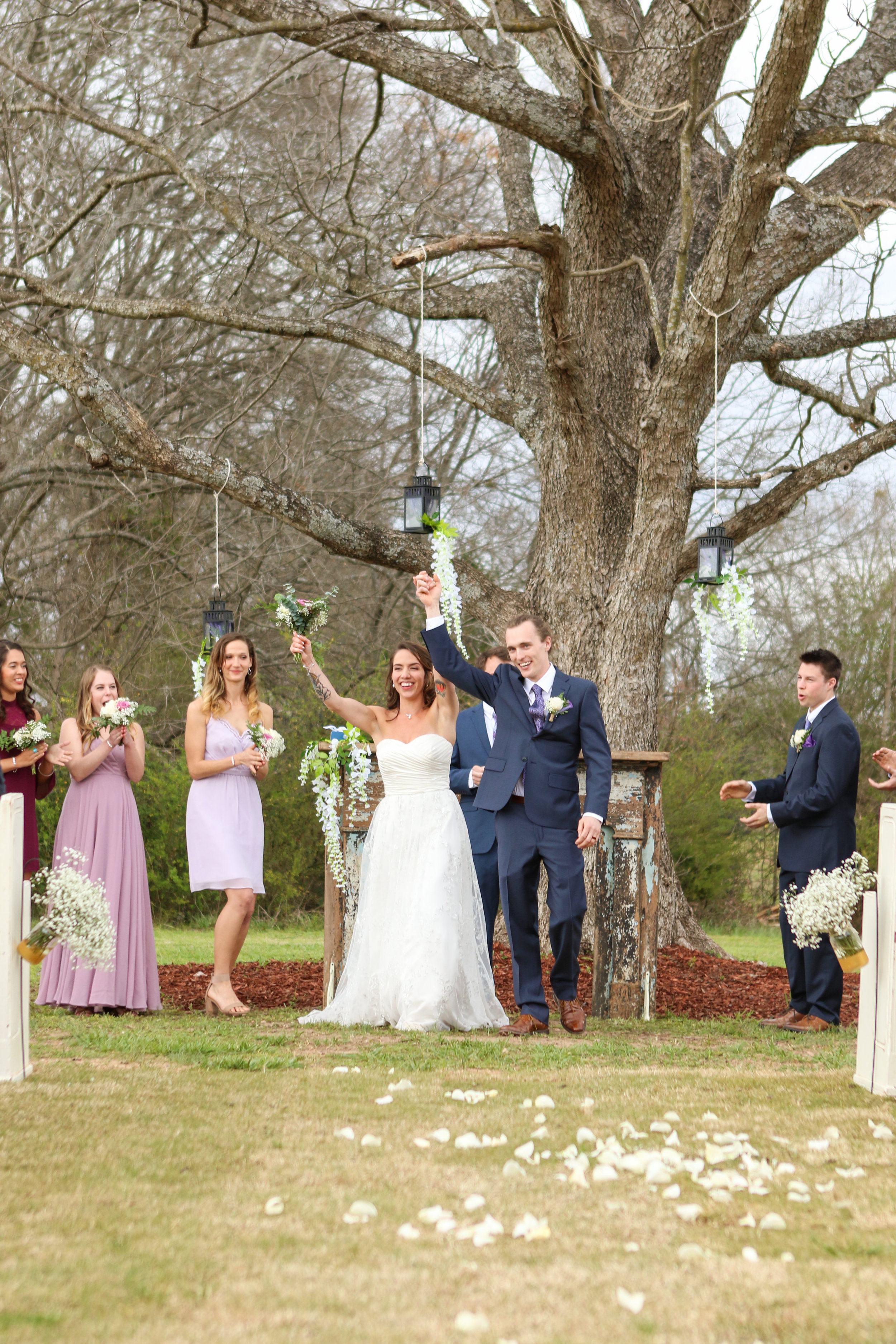 March wedding, photo by Emma Chasteen Photography