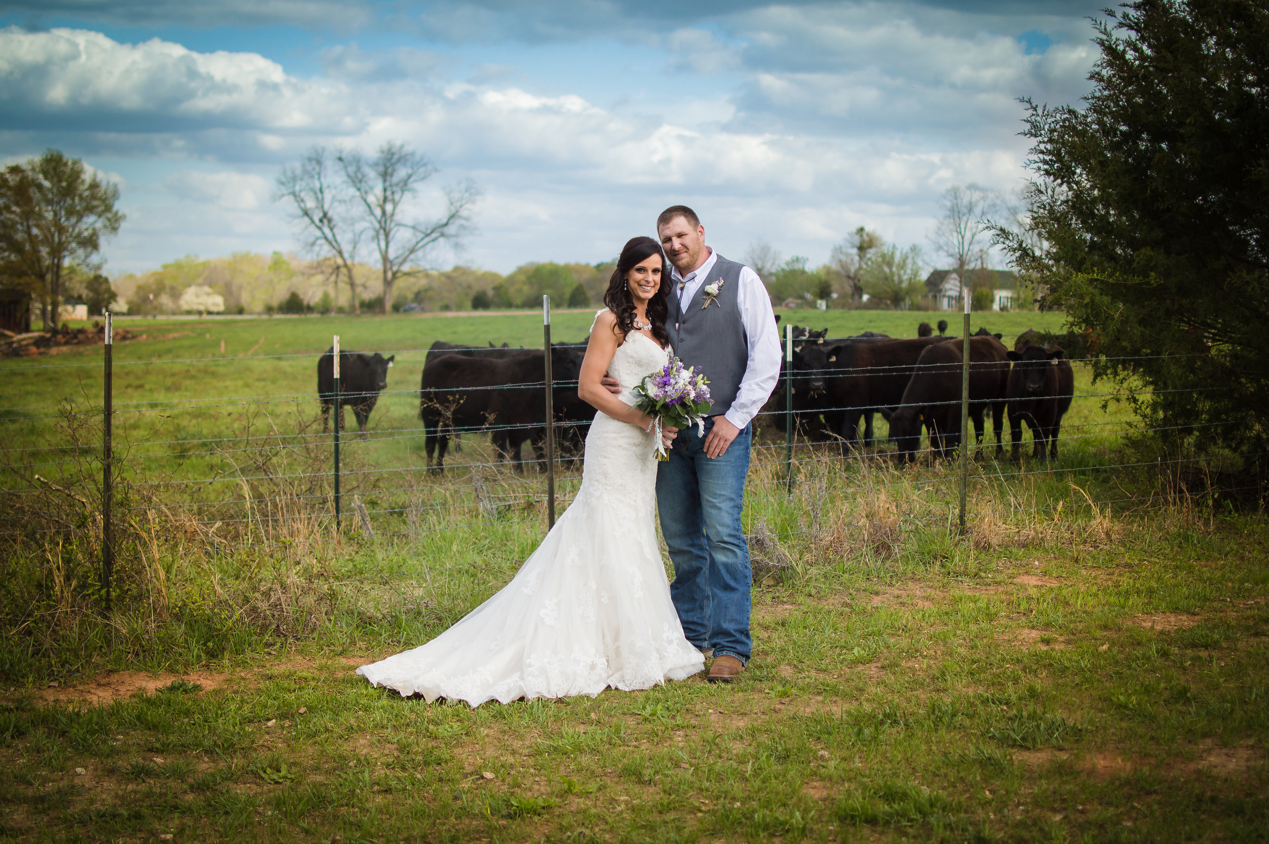 March wedding, photo by Hannah Hensley Photography