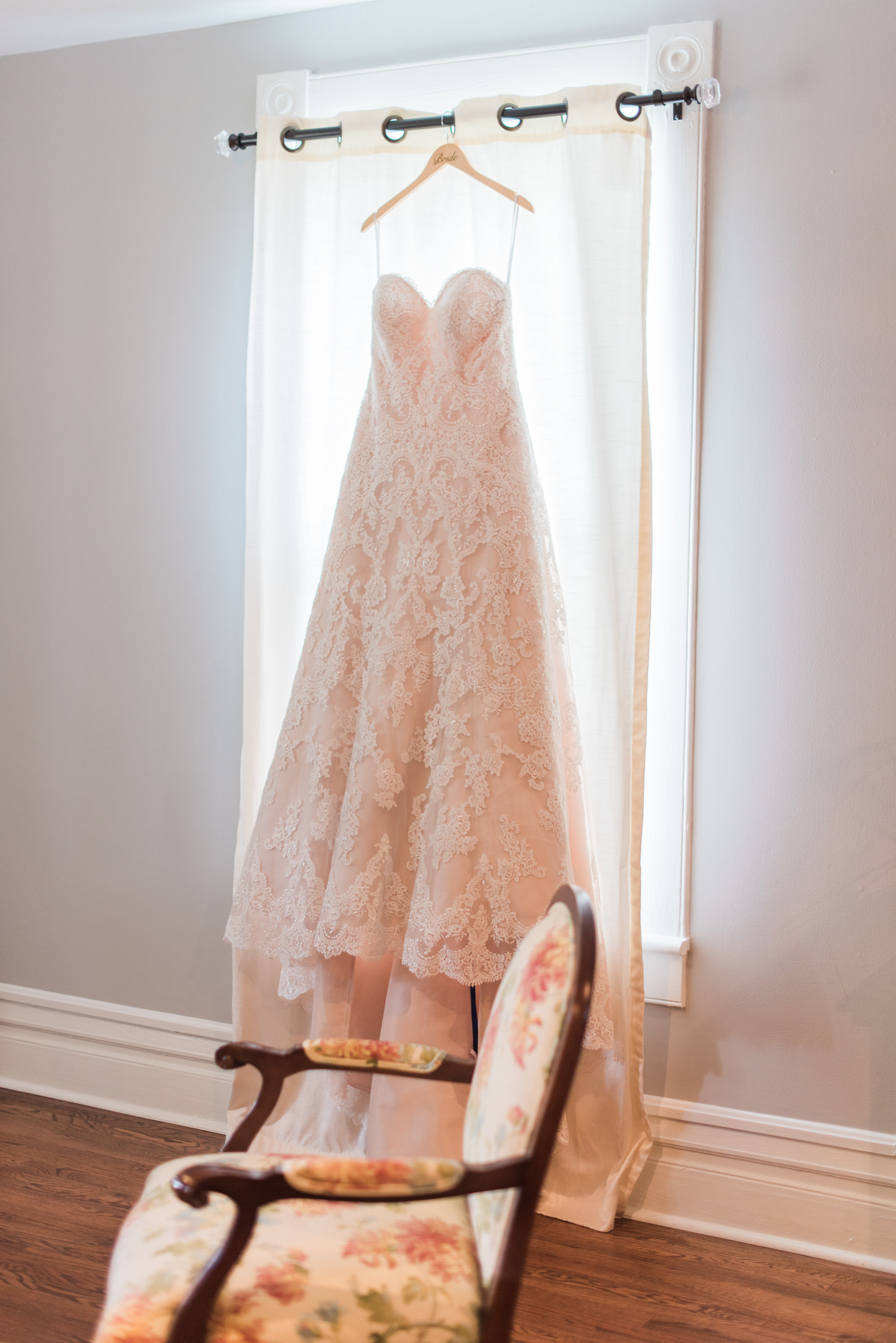 The blush tones and amazing detail of this gown are stunning. pc: Holly Von Laken