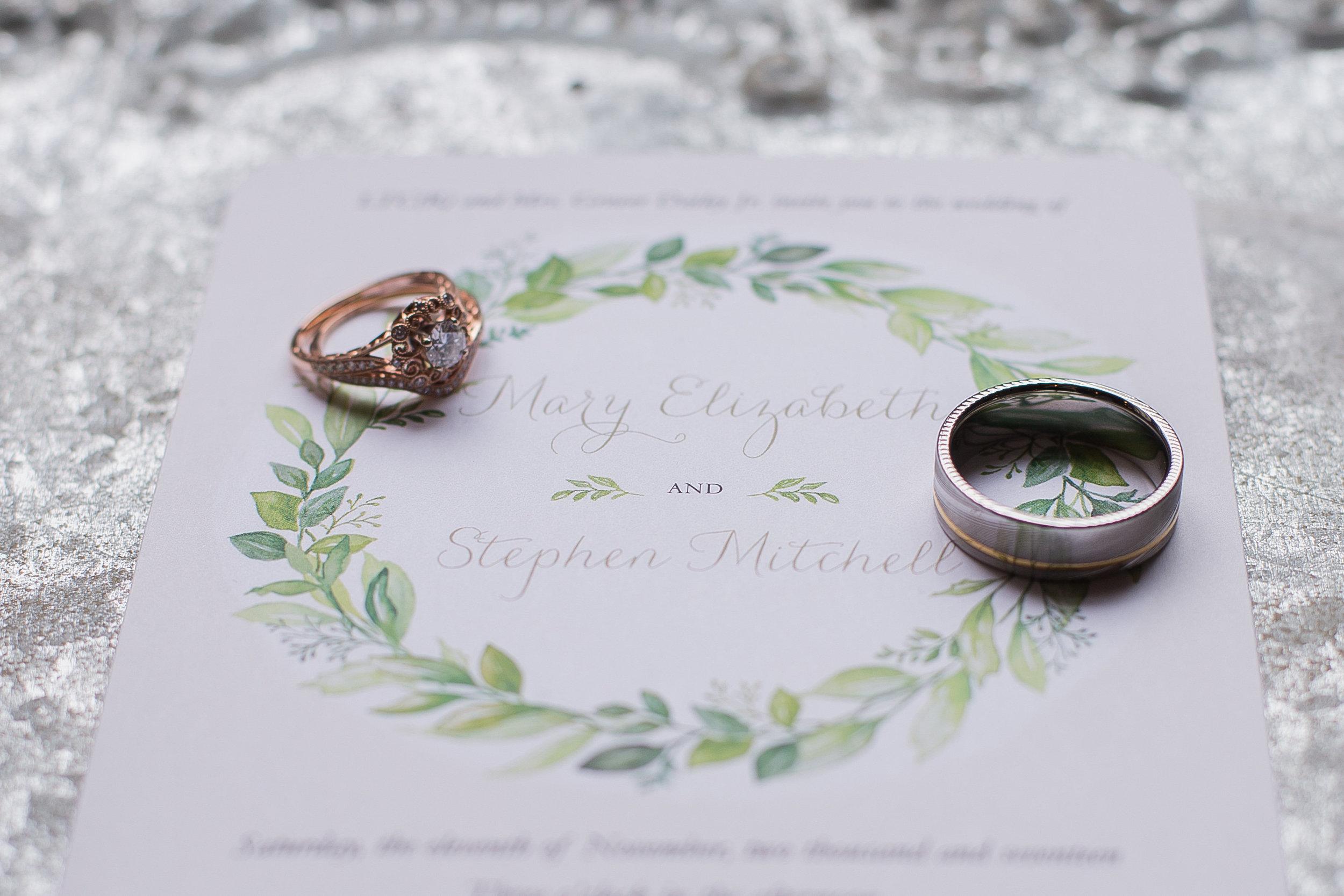 November wedding invitation, photo by Morgan Corbett Photography