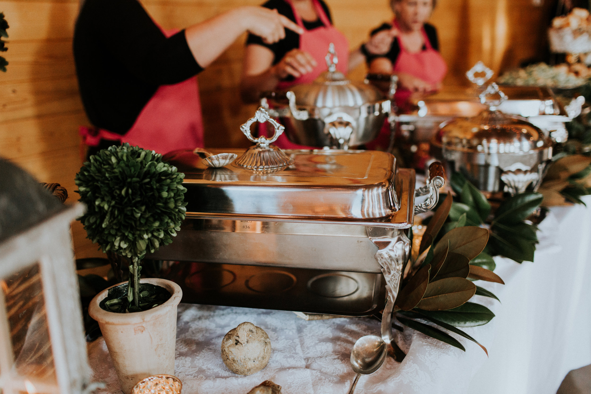 Party Girls Catering team ready to serve a delicious meal. pc Brooke Miller Photography