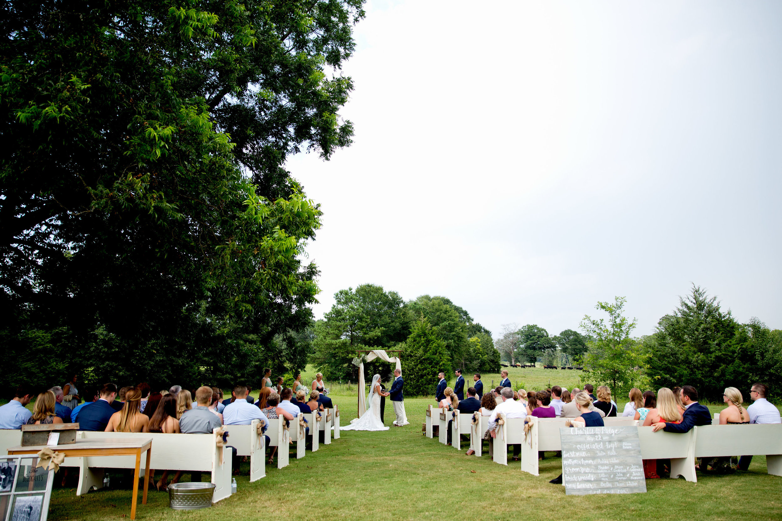We can adjust the ceremony seating to provide more shade for your guests. pc (above and gallery below): Taken by Tate