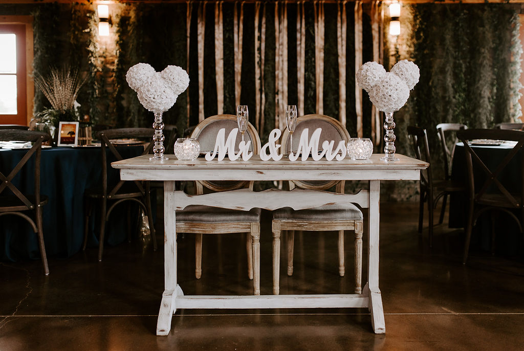 The Sweetheart table fit for a prince and princess