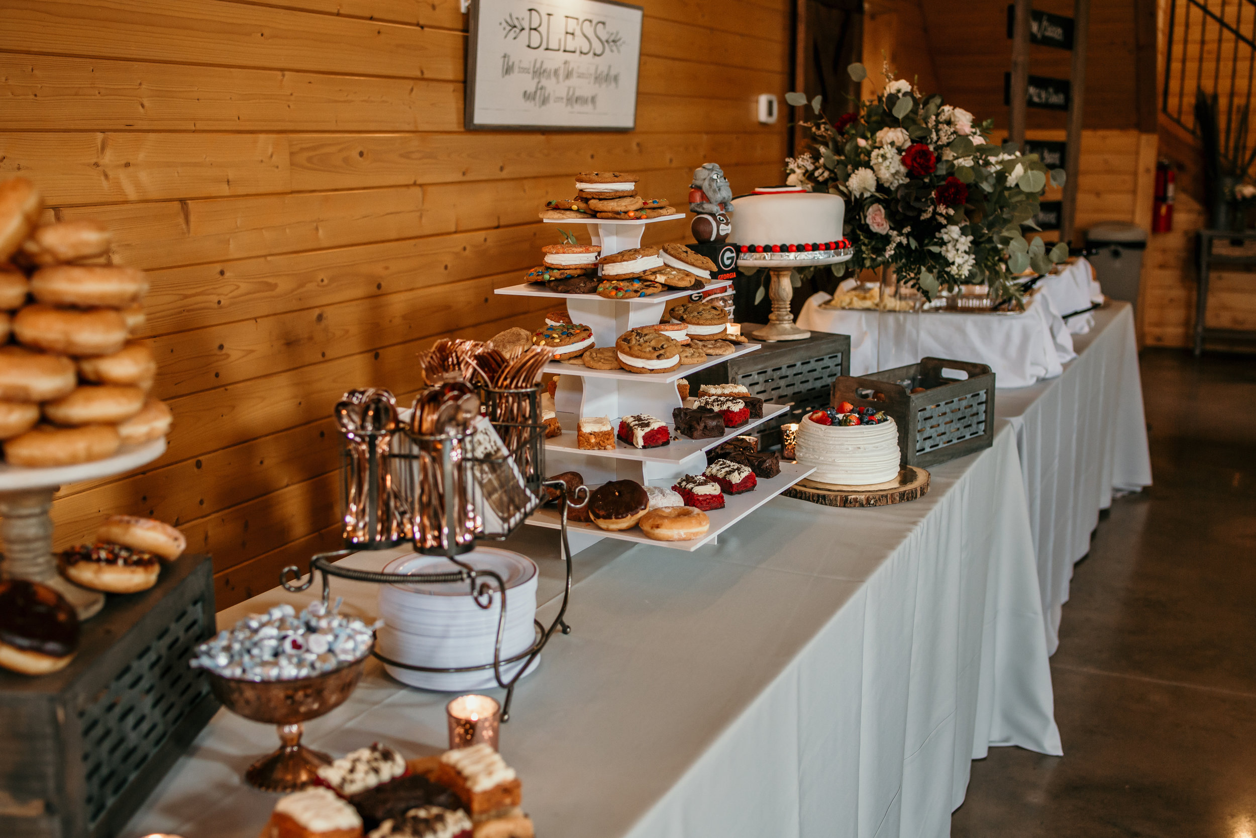 Check out this dessert table! Sundays weddings can have all the treats too! pc: Molly Rice Photography