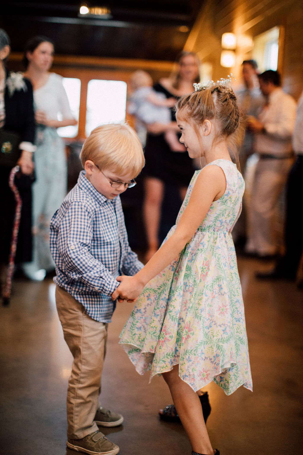"""How cute is this moment? You can just hear all the """"awes"""" in the background. pc: Katelyn King Photography"""