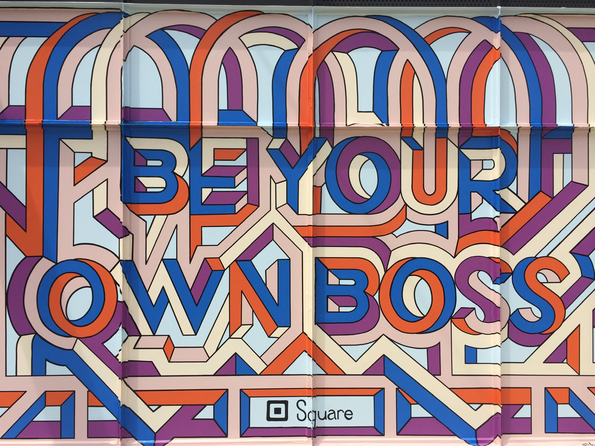 My favorite mural in Ponce City Market, Atlanta, GA