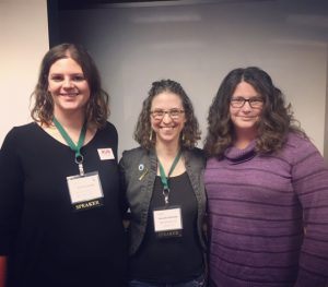 At our most recent training at the Michigan Good Food Summit, current Mayor of Ypsilanti Amanda Edmonds (center) and Lansing City Council member Kathie Dunbar (far right) shared their experiences running for and serving in public office. Plate to Politics Coordinator Ash Bruxvoort (far left) facilitated the discussion.