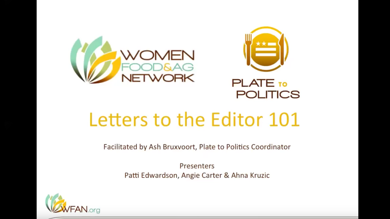 Letters to the Editor 101 - Want to bring awareness to an issue in your community through writing? Learn from three women writing about food justice.