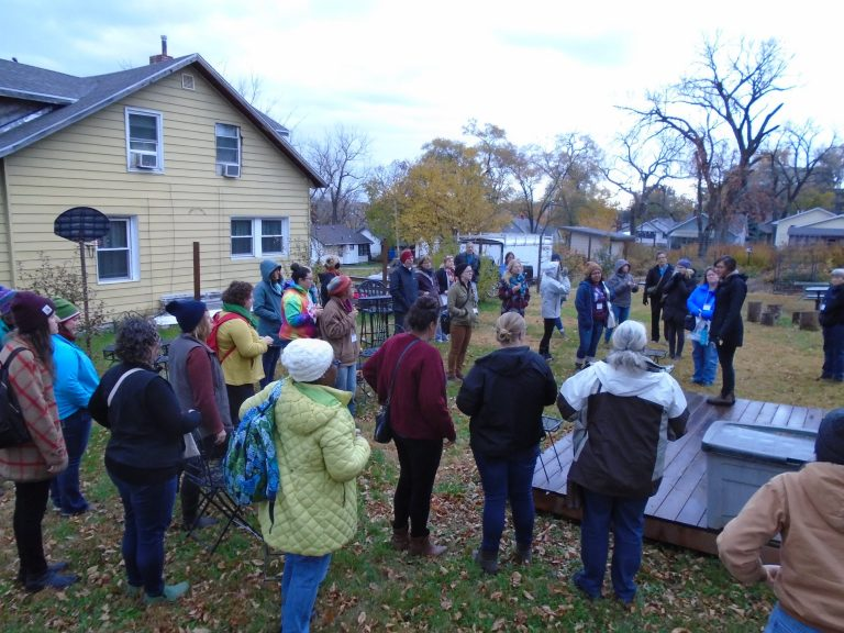 The Des Moines urban ag projects tour visited local projects like Forest Avenue Outreach. Photo credit Julia McGuire