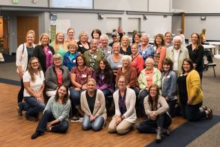 Participants pose for a group photo at Buchanan WLL's Listening Session in 2018.