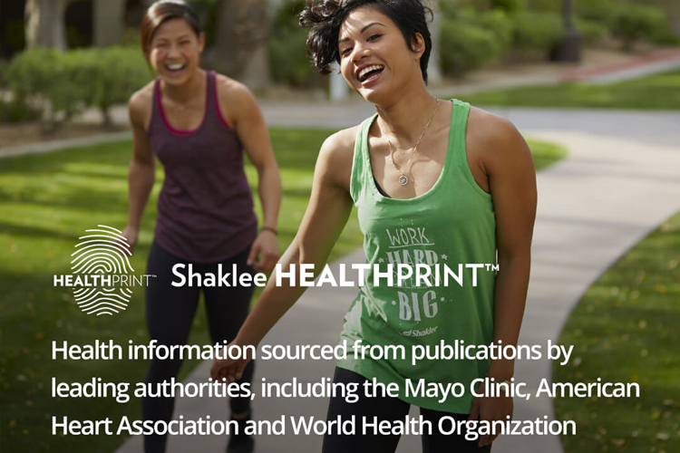 Quick 20 question quiz to get personalized health recommendations from Shaklee Healthprint
