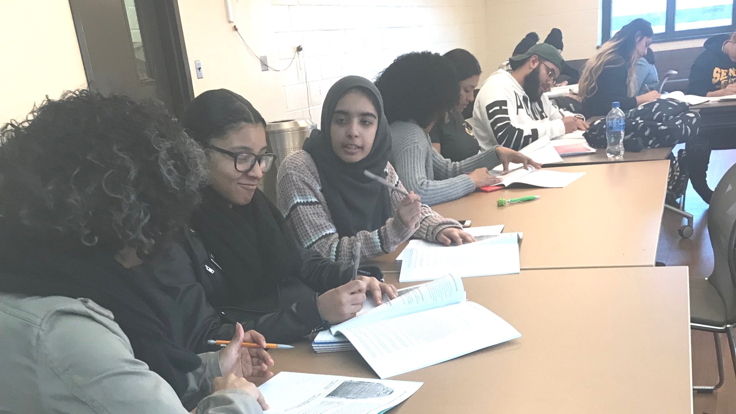 Students practice analysis and writing at Bronx Community College