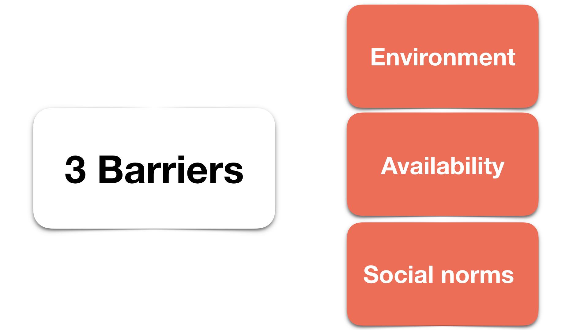 We identified 3 main barriers.