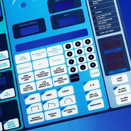Reliatrace®'s D/SPC® technology for membrane switches enables more design space and higher  interconnect density  — such as a larger number of keypad positions — without expanding the circuitry footprint.