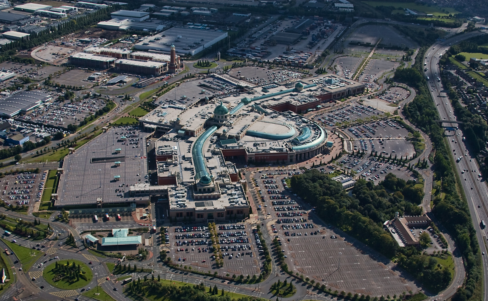 Ariel view of the Trafford Centre