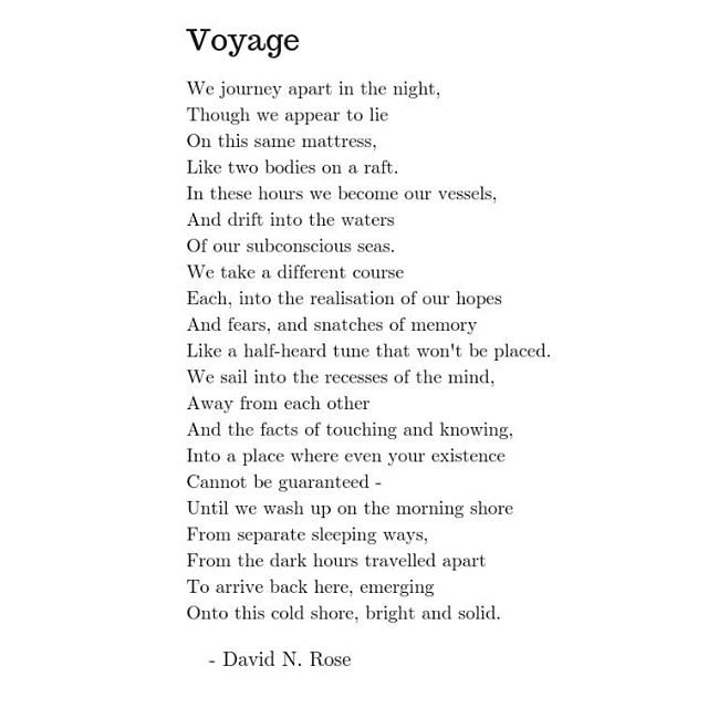 More poems at https://www.realrose.site/poetry #voyage #sleep #poem #poetry #writing #realrose #poetsofinstagram
