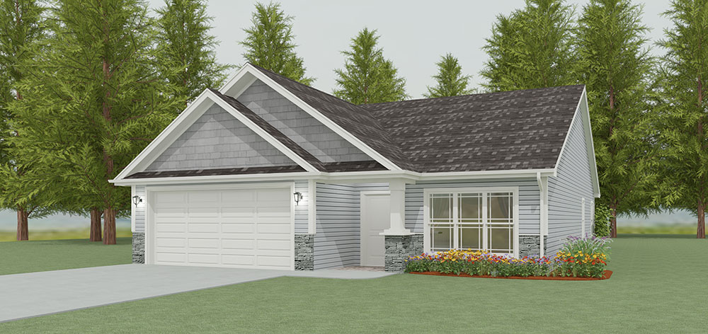 Garden Style Bungalow - 3 interior layout options
