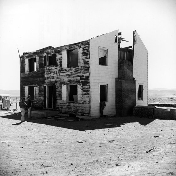 Yucca Flats Nuclear Test Site, 1955