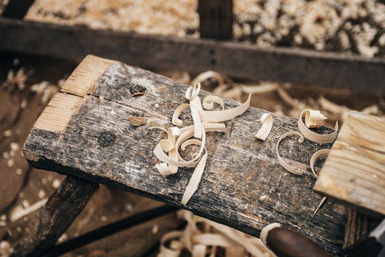 Alles von Hand - Pop-Up-Holzwerkstatt