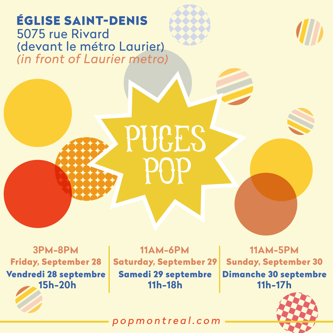 Andrea Hurtarte will be at Puces Pop Montréal