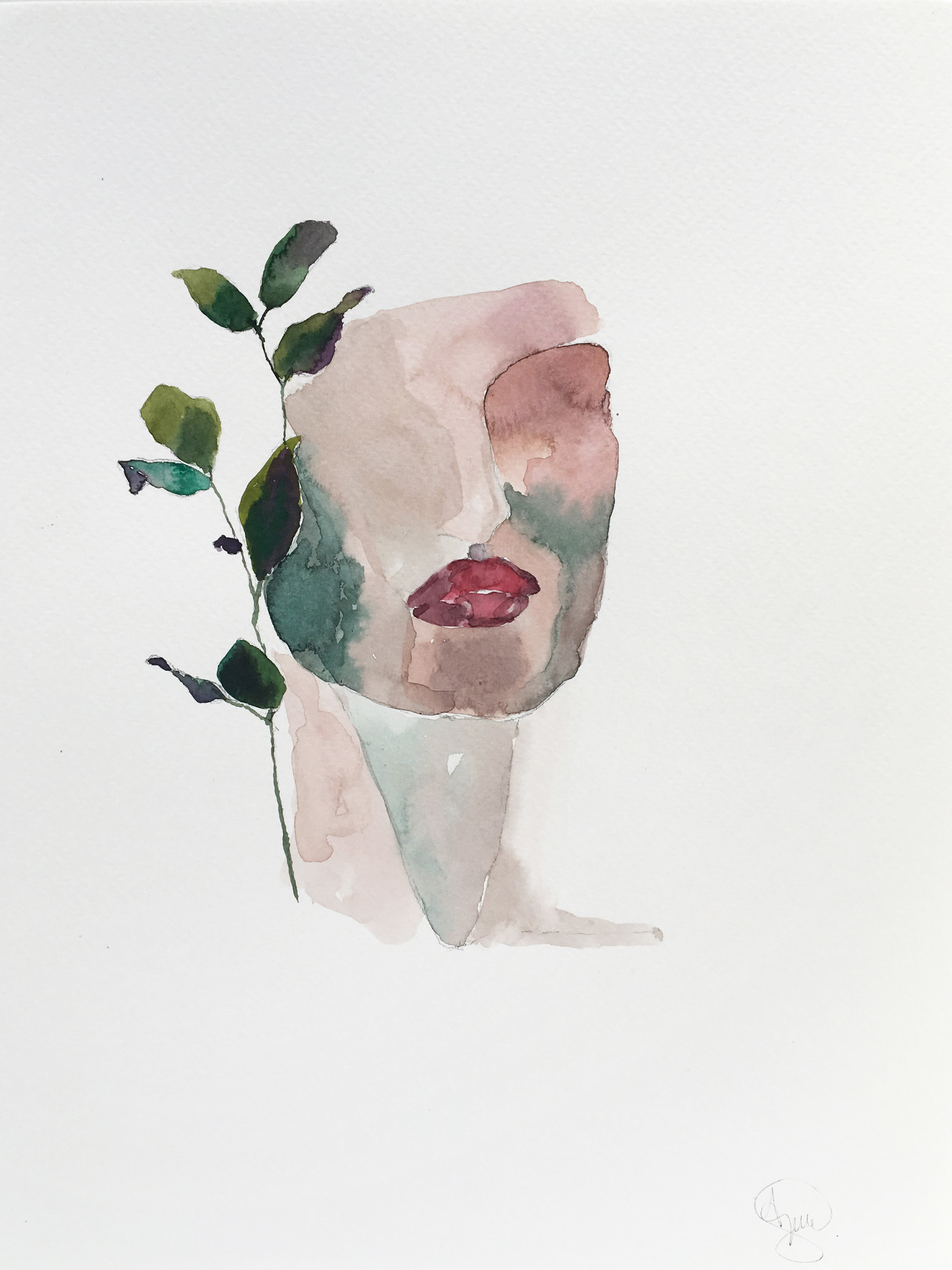 Vendu - Leaves 9x12''