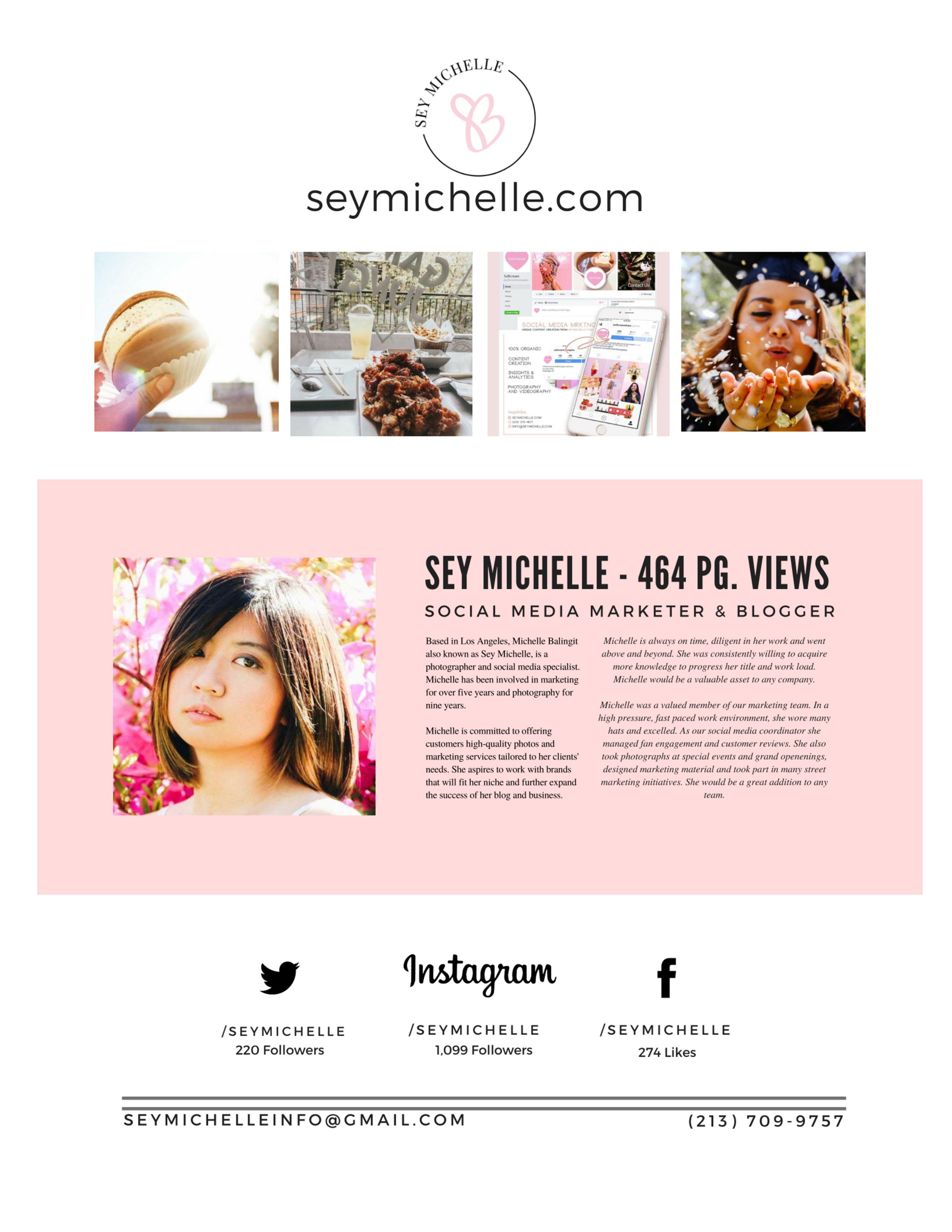 Media kit by  Cecily Sarcinelli