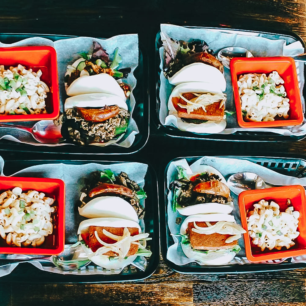 The Bun Shop (koreatown) - Chic, brick-and-mortar outpost of a popular food truck, serving steamed bao buns & other bites.