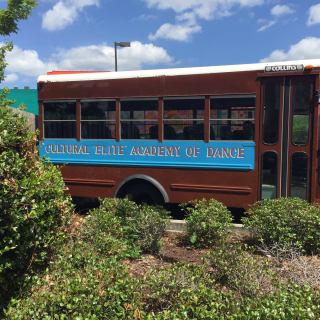 Parked outside the New Orleans Center for Healing Arts.
