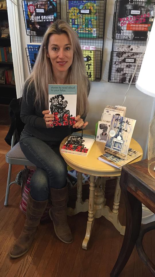 Signing at Ernest & Hadley Books