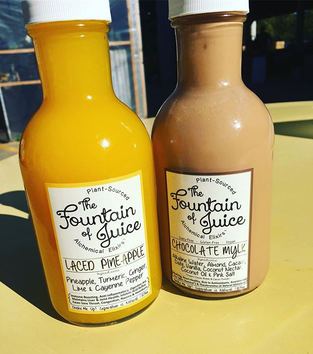 Why didn't someone tell me about @thefountainofjuice. These are some of the best tasting juices I have ever had.  I sampled these yesterday, and they were beyond good! 🤯  So I had to purchase two:Pineapple Laced & Chocolate Mylk.  Ingredients for each are noted below: Pineapple Laced contains: pineapple, turmeric, ginger, lime, and cayenne pepper.  Let me just tell you, I have not had chocolate milk in years because of, well, diary. This right here EXCEEDED my expectations. Chocolate Mylk contains alkaline water, cocoa, almond, date, coconut oil, coconut nectar, and pink salt. #fountainofjuice #healthiswealth #juicing  #juicingnashville