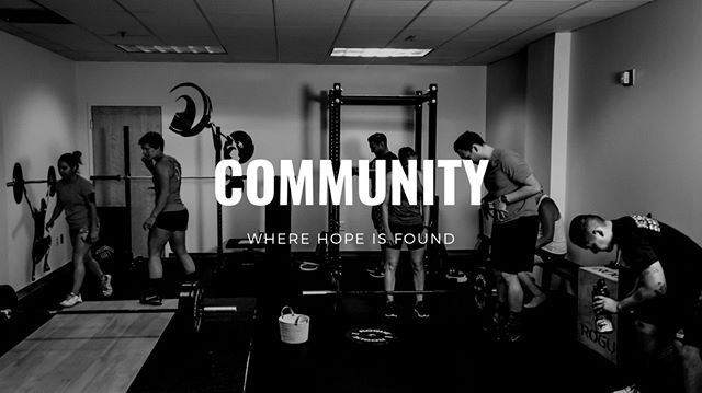 The foundation of our gym is our community. Not just our members but also those who support our members. Whether their friends, family or fellow community members, near or far, it is in each others support that we find hope.  #dogreaterthings #strengthtraining #gym #pensacola #individualprogramdesign #hope #values #theupsideofflorida #downtownpensacola