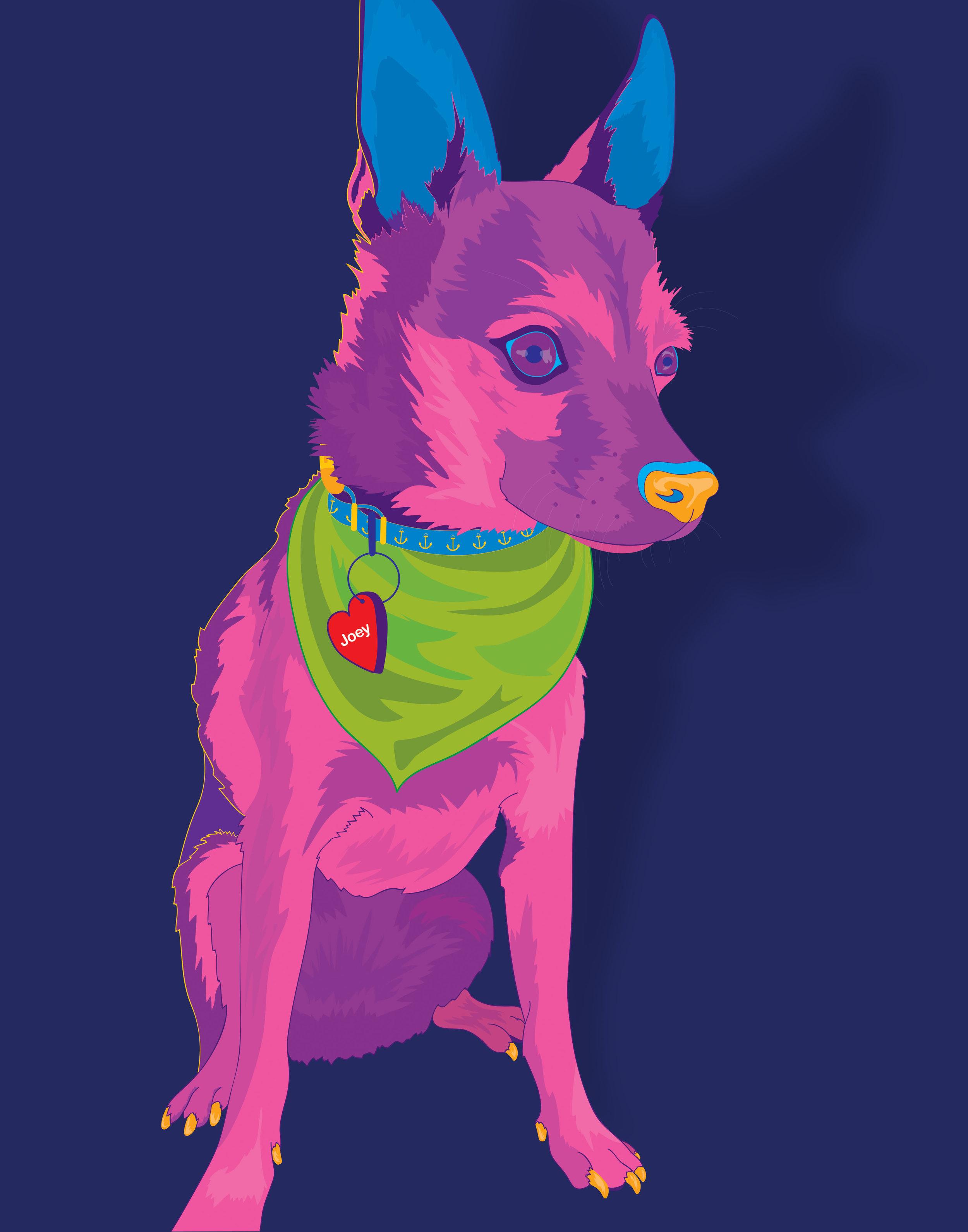 11x14_CTD_Joey_Jennifer St Pierre_Single Pet Portrait_PopArtStyle.jpg