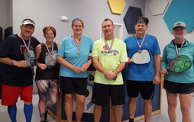 Pink for Pink, mixed doubles 4.0+ medal winners