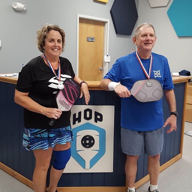 Dink for Pink mixed doubles medal winners.  See all of the results for Dink for Pink on HouseOfPickleball.com