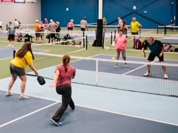 Come play! - WE OFFER A VARIETY OF PLAY FOR ALL SKILL LEVELS: DROP-IN, ROUND ROBINS AND EVENING SOCIALS. CHECK OUT OUR DAILY SCHEDULE HERE.COURTS ARE AVAILABLE TO BOOK FOR PRIVATE PLAYING TIME.WE ALSO HAVE WOMENS', MENS' AND MIXED LEAGUES.