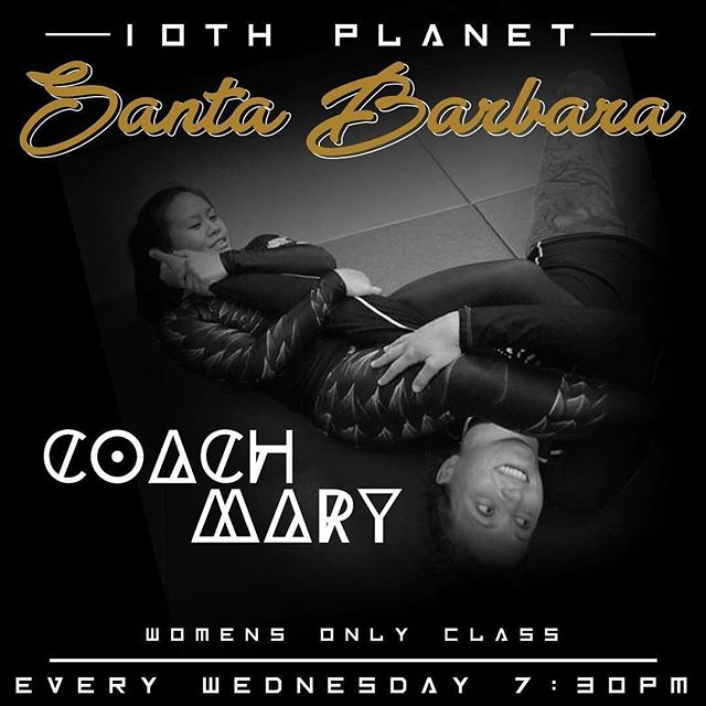 We will be starting our women's self defense/ Jiu Jitsu class every Wednesday starting May 1st At 7:30pm with 10th Planet Santa Barbara's very own @m3rryj  No experience necessary.  Tag a Lady who might be interested 🤙🏽 @emheis10  10thplanetsantabarbara.com http://grappling.life/JeremiahVance Come join the @10thplanetsantabarbara Team and learn nogi jiu jitsu that's applicable for self defense and MMA. #10p4L #santabarbara #yoga #jiujitsu #rubberguard. Inbox me to schedule a free trial class and for sign up info. No experience necessary. Mon and Wed 8:30p.m Tue,Thur,Fri at 7:30p.m #mma #goleta #carpinteria #bjj #jiujitsu #subonly #10thplanet #islavista #submission #ucsb #805