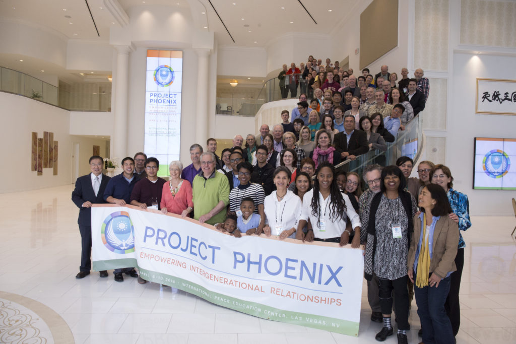Participants pose for a group picture at the first 'Project Phoenix' event in Las Vegas in April