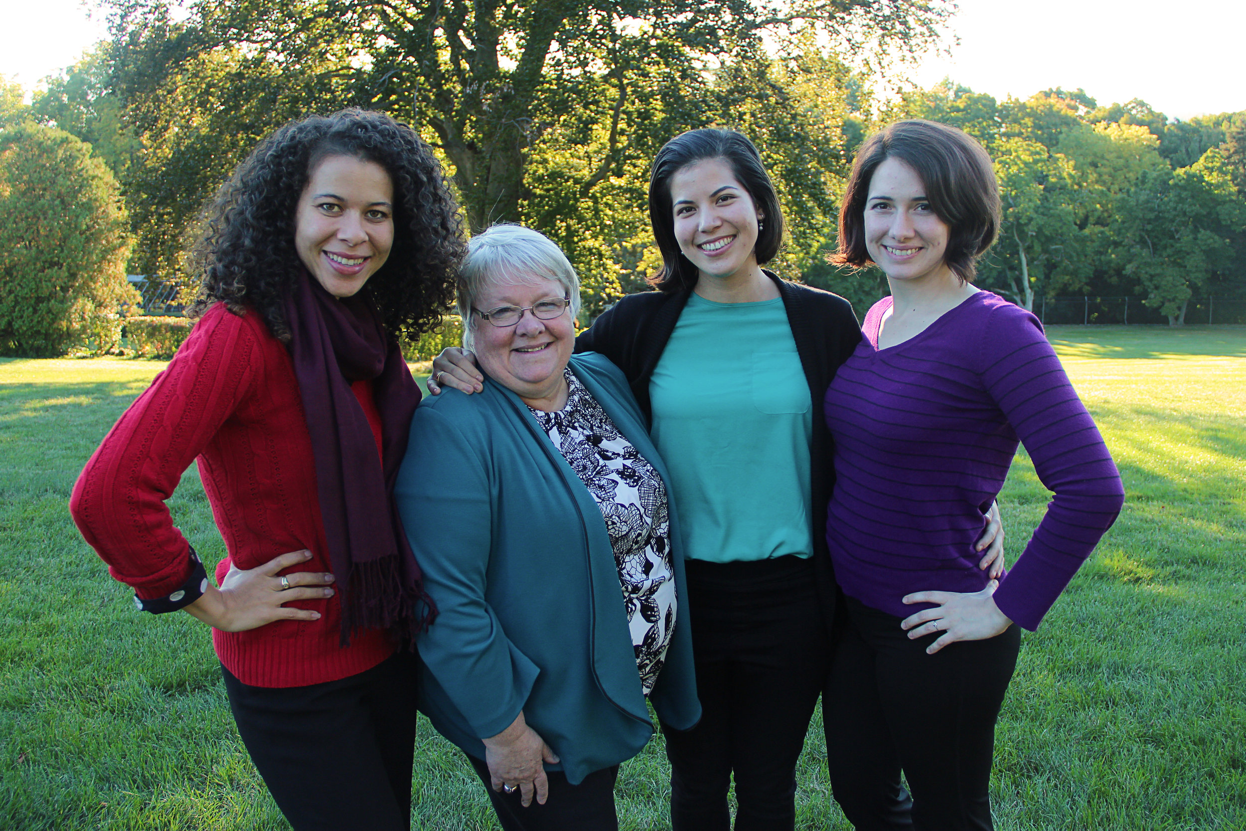 Marjorie strikes a pose with some of the (powerful) ladies of CARP's board and staff.