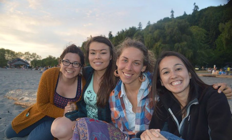Tasnah re-unites with old STF friends at an Alumni Retreat.