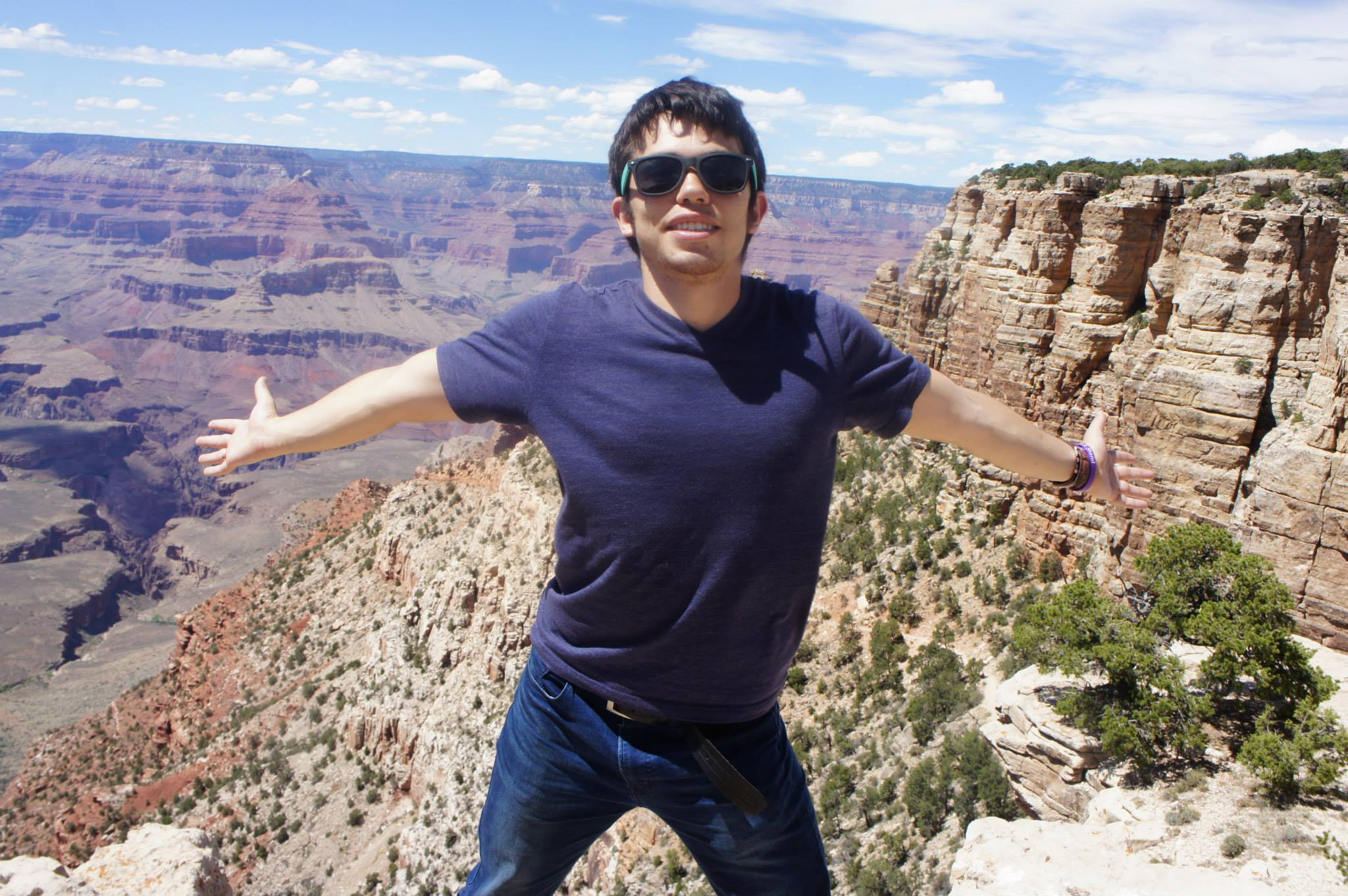 Justin at the Grand Canyon while on a road trip with friends to see the country.